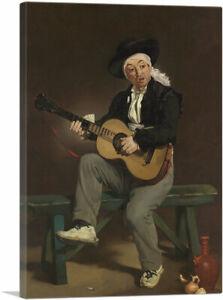 ARTCANVAS The Spanish Singer 1860 Canvas Art Print by Edouard Manet
