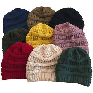 7972fee4575cf New Knit Unisex Slouchy Beanie Oversized Hat Slouch Color Thick ...