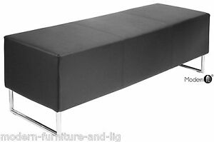 Image Is Loading Black Cube Dining Bench Seat Block