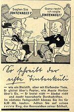 TINTENKULI mit dem roten Ring LIMERICK Historische Reklame von 1938