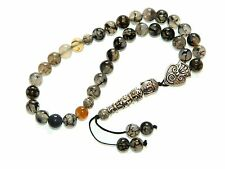 0162 - Prayer Worry Beads Komboloi Tasbih 8mm Dragon Vein Agate Gemstone Beads