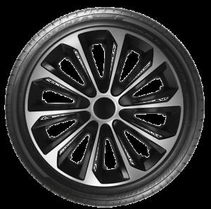 "4 X 14/"" Tapacubos Tapacubos 14 pulgadas rueda Adornos Recortar Moldura de plástico ABS strduosv"