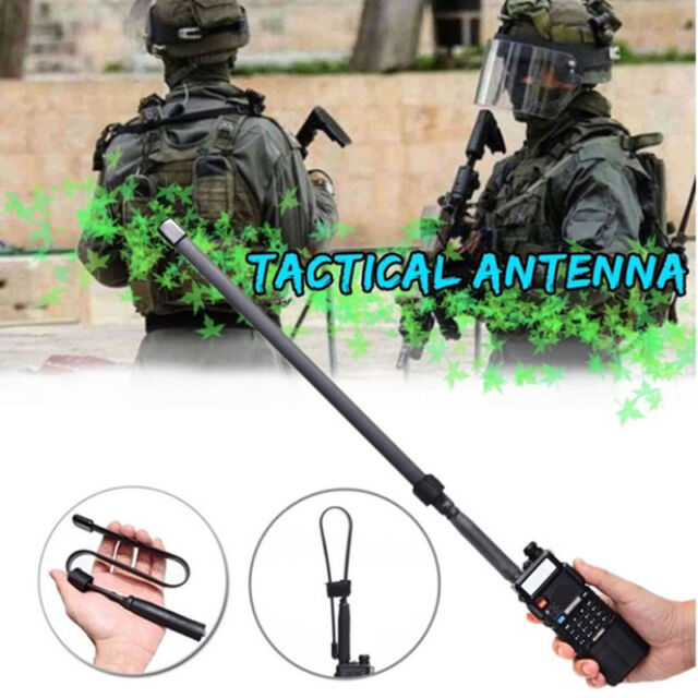 Tactical Antenna SMA-Female Dual Band VHF UHF 144//430Mhz For Baofeng UV-5R//82 LY