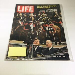 VTG Life Magazine June 9 1961 - Liberal Meets Barry Goldwater / John F. Kennedy