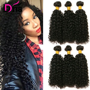 Details About Curly Hair Bundles 22 24 26 Inch Brazilian Virgin Kinky Curly Human Hair Weaves