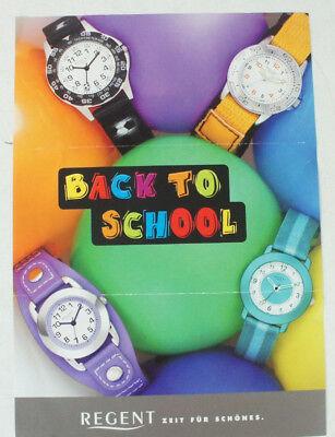 Unsicher Selbstbewusst Gehemmt Verlegen Regent Back To School Prospekt Uhr Armbanduhr Kinder Werbung Armbanduhr B11427 Befangen