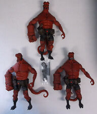 2005 Mezco Hellboy Comic Series Set of 3 Hellboy (Diff Faces) Loose Fig Comic