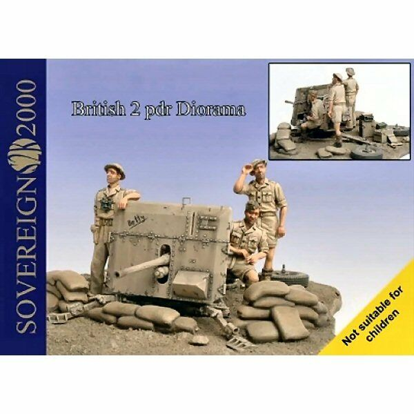Sovereign 2000 British 2pdr Diorama Complete Kit 1 35 scale resin kit S2KA004