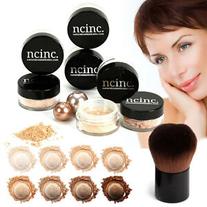 Bare-Naked-Skin-Mineral-Makeup-Set-ncinc-MINERALS-Foundation-Kabuki-Brush-8pz