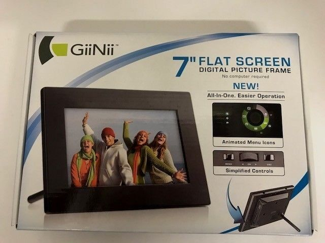 Giinii 7 Flat Screen Digital Picture Frame Ebay