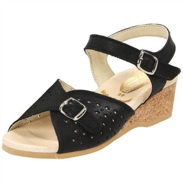 WORISHOFER WOMEN'S  811 WALKING COMFY WEDGE SANDAL, LIGHTWEIGHT SOLE