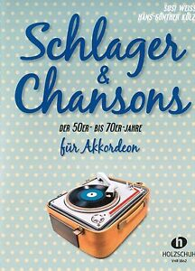 Akkordeon-Noten-Schlager-amp-Chansons-der-50er-bis-70er-Jahre-mittelschwer