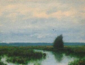 Tidal Marsh Coastal Impressionism Art Oil Painting Landscape Cape Cod Realism