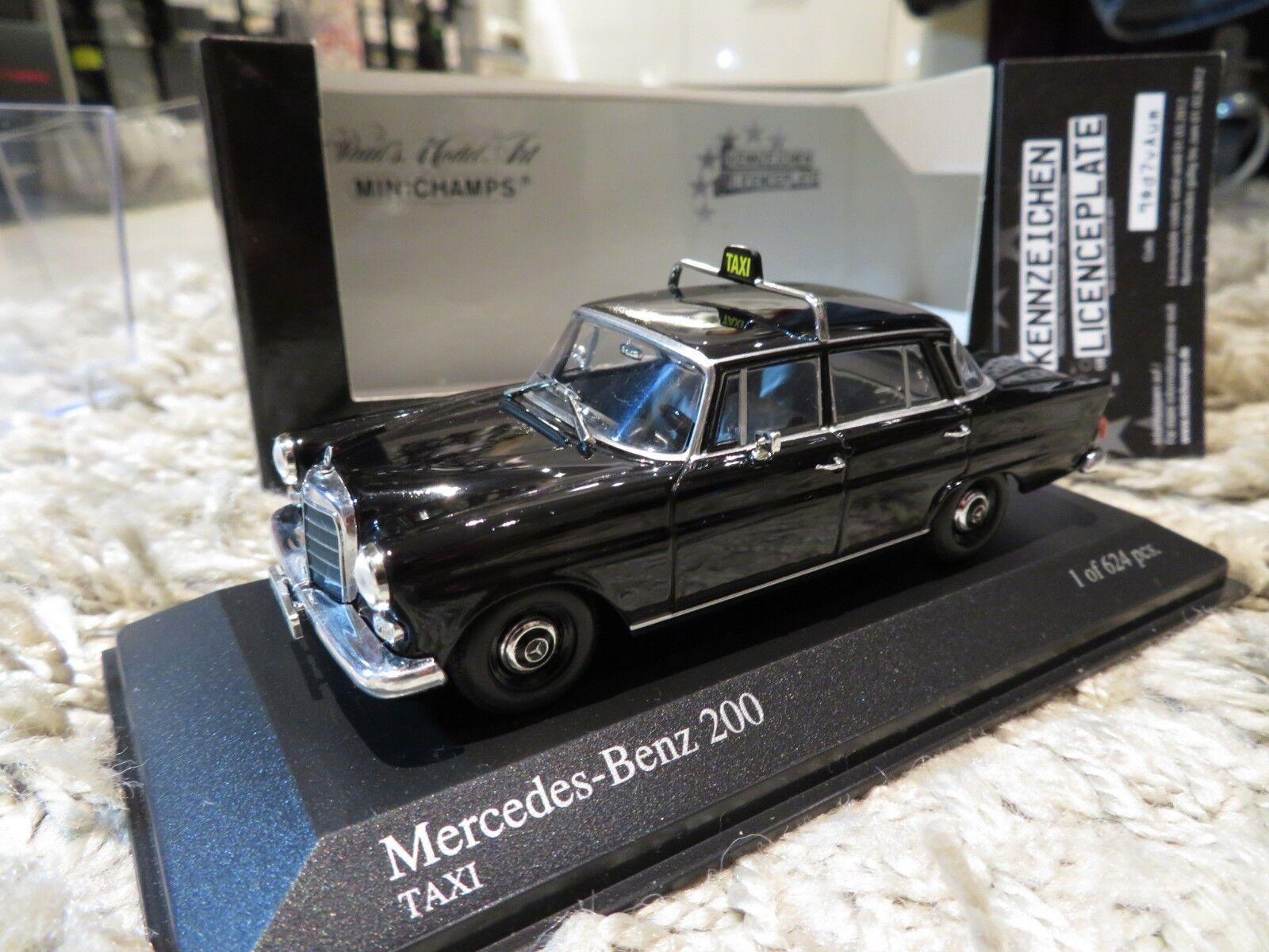 precio mas barato 1 43 Minichamps Mercedes Benz 200D Diecast Taxi Taxi Taxi (1965)  punto de venta de la marca