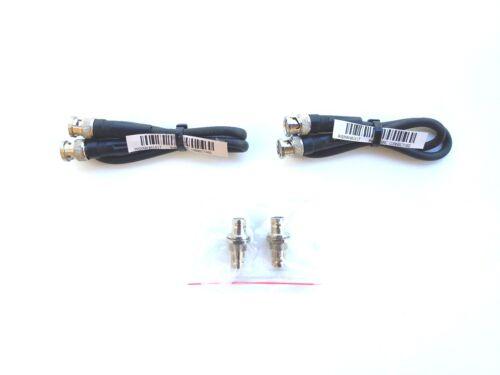 50 OHM BNC Rack Mount Antenna Kit With 2 Bulkheads /& 2 Cables ULX SLX Shure exc