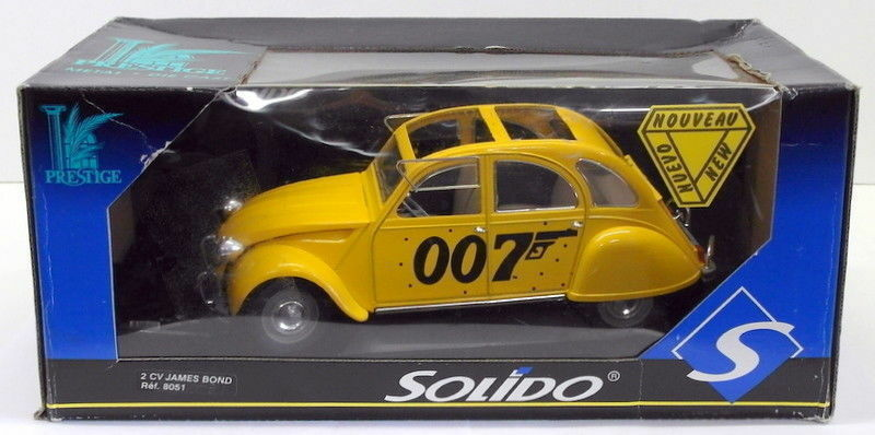 Solido 1 18 Scale Diecast 8051 - Citroen 2CV James Bond - For Your Eyes Only