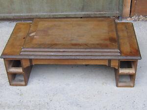 ANTIQUE German TREADLE SEWING MACHINE BROAD BOARD Table BRITANNIA/ JUNCER & RUH