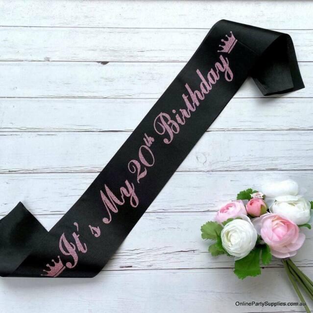 Hot Pink Happy 18th Birthday Party Satin Ribbon Sash Age 18 Today