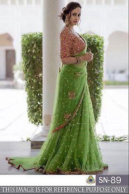 Indian Sarees New Collection 2019 Net Saree Blouses For Women Latest Design Sari Ebay