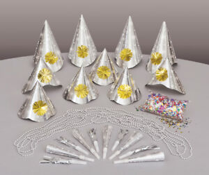 New-Years-Eve-Party-Kit-For-10-People-Inc-Hats-Blowers-Necklaces-amp-Confetti