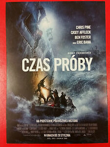 Holliday Grainger Chris Pine Casey Affleck- The Finest Hours -Polish promo FLYER - Gdynia, Polska - Holliday Grainger Chris Pine Casey Affleck- The Finest Hours -Polish promo FLYER - Gdynia, Polska