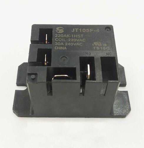 HF105F-4-220AK-1HST JT105F-4 220AK-1HST 220VAC 30A 240VAC Power Relay 4 Pin JQX