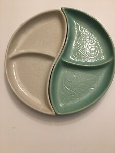 Vintage-McCoy-Ying-Yang-Divided-Serving-Dish-Mid-Century-Modern