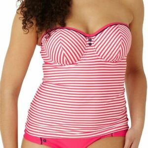 Details about Panache Cleo Swimwear Lucille Tankini Top Coral CW0191