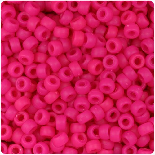 BeadTin Matte 6.5mm Mini Barrel Pony Beads 1000pcs Color choice