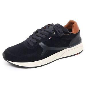 Image is loading B8608-sneaker-uomo-TOMMY-HILFIGER-scarpa-blu-scuro- 5571216f0f8