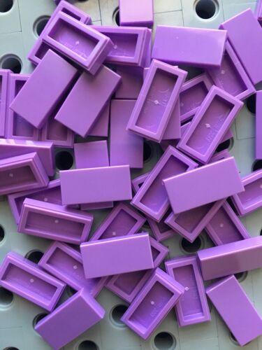 Lego Medium Lavender Flat Tiles 1x2 Smooth Finishing Tile Roof Floor Lot Of 50