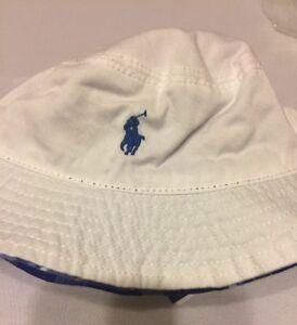 7be393da59d82 polo ralph lauren bucket Reversible Hat Boys White 9 Months 24 Mo ...