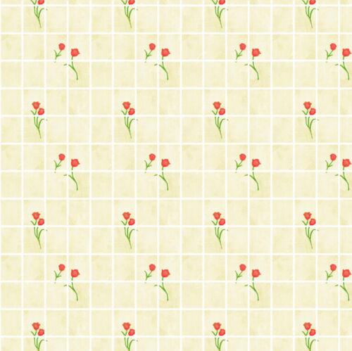 24ième échelle Cuisine Crème papier de qualité # 87 Papier peint maison de poupées 1//12 1