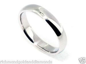 Clearance Sale Real 10k White Gold 5mm Size 7 Plain Fit Wedding Band