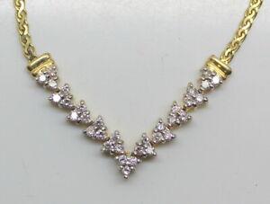 NICE-Vintage-Estate-14K-Gold-2-3-Ct-RB-Diamond-Ladies-17-5-034-Necklace