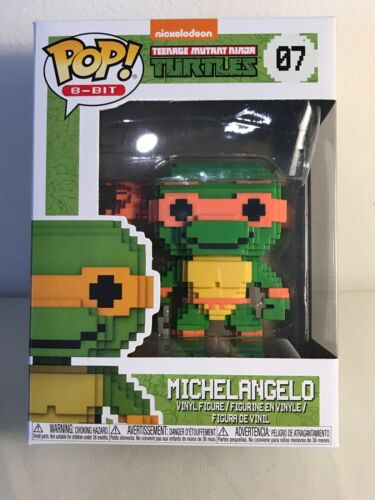"/""NEW/"" Funko Pop 8-Bit Teenage Mutant Ninja Turtles Michelangelo Vinyl Figure"