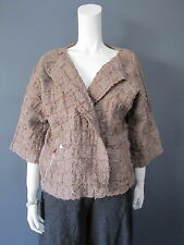 DANIELA GREGIS 50 % wool 50 % lino jacket NEW withTAG large safety pin to adjust