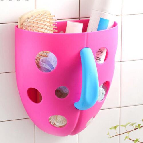Pink Baby Bathing Accessories Bath Toys Sucker Storage Basket Organizer