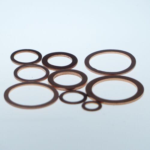 25 Stück Kupferringe Dichtringe 24x30x2 mm M 24