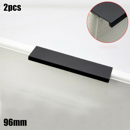 2X Edge Tab Finger Pull Cabinet Drawer Handle Modern Kitchen Cabinet Pull Handle
