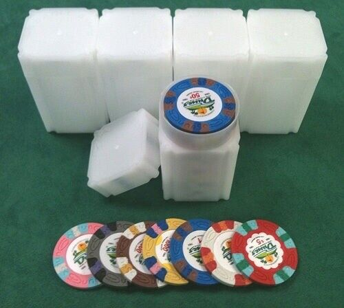 40 /& 41 mm Chips * 5 Casino Chip Tubes Collector Chip Storage Las Vegas 39