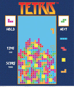 Details About Tetris Fabric Panel Video Game Fabric 36 Tetris Game Gamer Thefabricedge