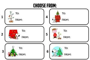 Christmas Tags.Details About Charlie Brown Snoopy To From Gift Tags Christmas Present Name Stickers Labels