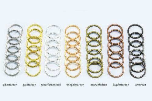 2 mm ojales biegeringe conexión anillos Binderinge Ø 7 mm 0,7//0,9//1//1 s3//7