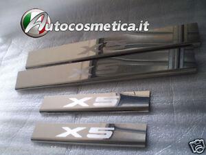 Battitacco-batticalcagno-battitacchi-acciaio-cromo-satinato-BMW-X5-E70-2006-2012