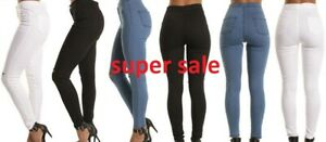 Neuf-Femmes-Taille-Haute-Skinny-Stretch-Jeans-Jeggings-Pantalon-UK-4-UK-16
