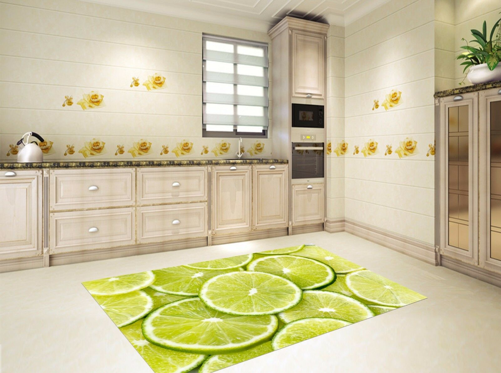 3D Green Lime 8 Kitchen Mat Floor Murals Wall Print Wall Deco UK Carly
