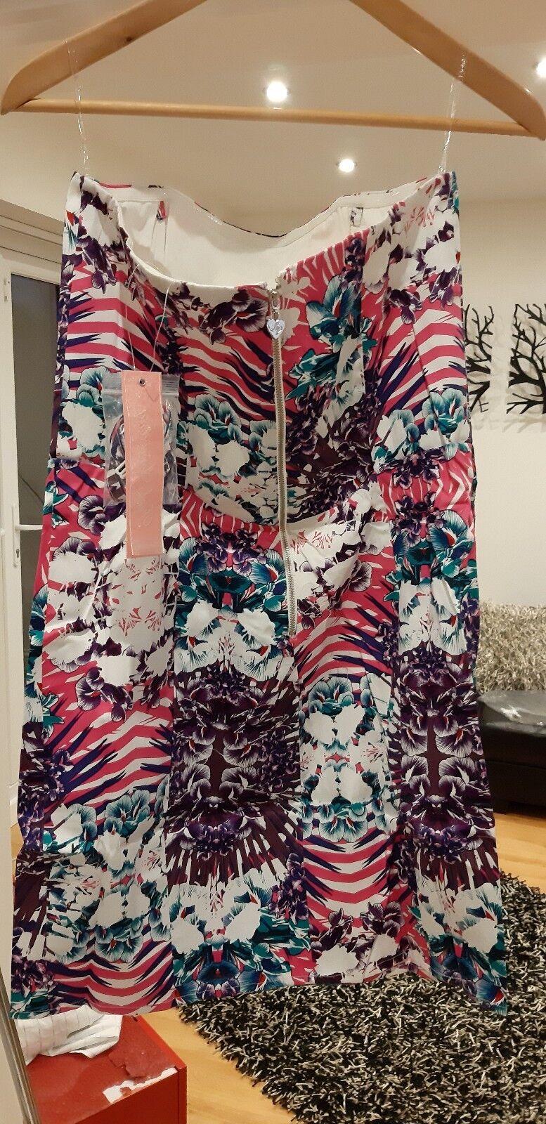 Lipsy gorgeous Peplum Dress BNWT 16 Mantra