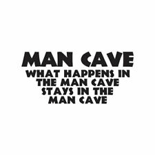 Decal Sticker ebn3256 Man Cave Stays In Man Cave Multiple Colors /& Sizes