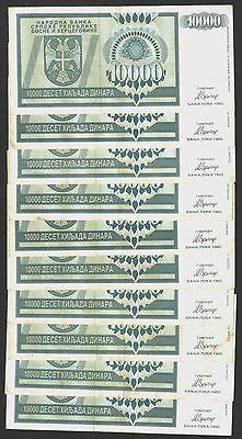 Bosnia-Serbian Republic-Banja Luka XF 1 Million Dinars 1993